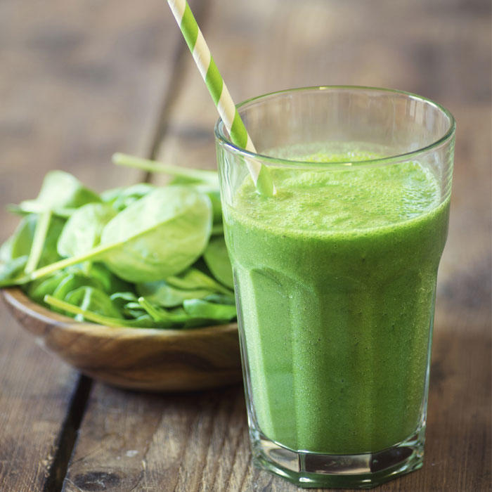 Protein-Packed Green Vanilla Almond Shake