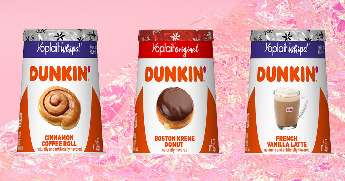 Yoplait and Dunkin' Teamed Up for Four New Coffee and Donut-Flavored Yogurts