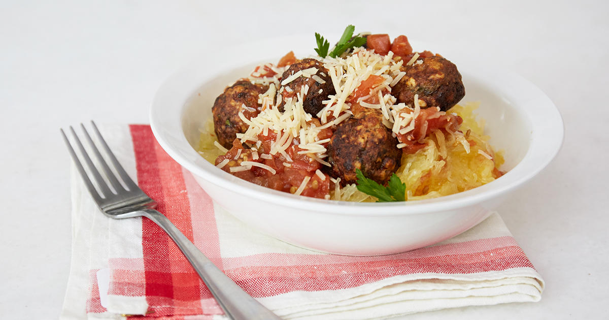 Rethink an Italian Classic with This Spaghetti Squash & Meatballs Dish