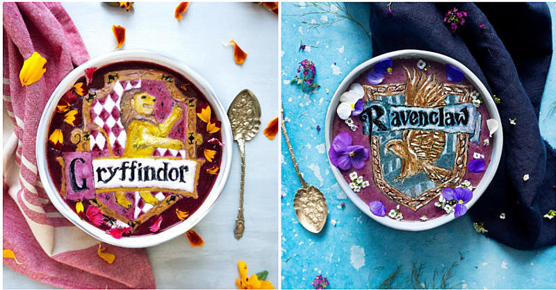 This Harry Potter Smoothie Bowl Art Is Every Fan's Dream Breakfast