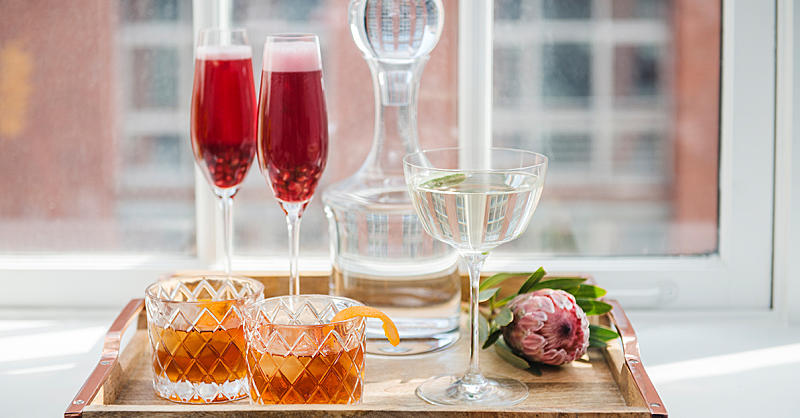 This Bubbly Red Cocktail Recipe Is the Perfect Holiday Drink
