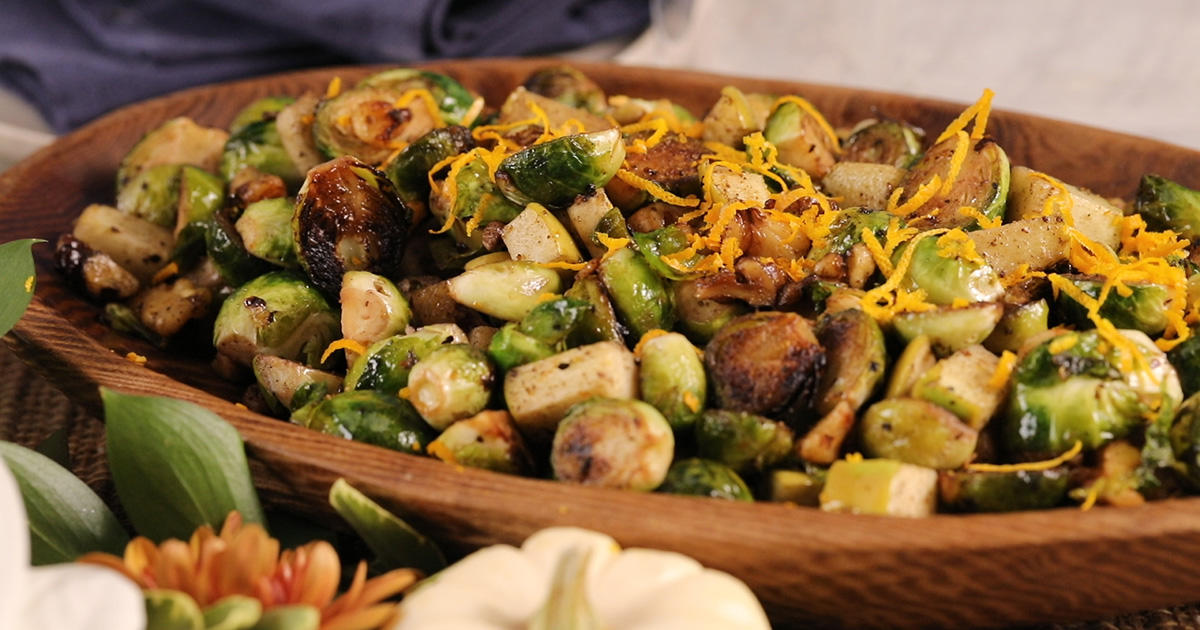 These Crispy Brussels Sprouts with Pancetta and Walnuts Are a Must for Thanksgiving