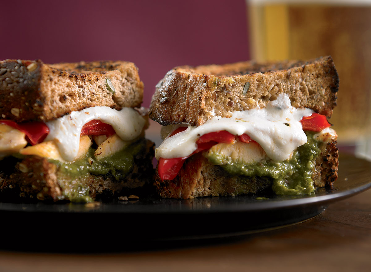 Chicken Panini With Pesto and Peppers Recipe
