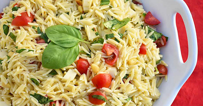 Bring This Orzo Caprese Pasta Salad to Your Next Party