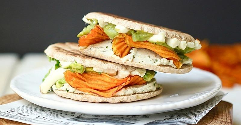 Vegan Grilled Cheese Stuffed with Sweet Potatoes