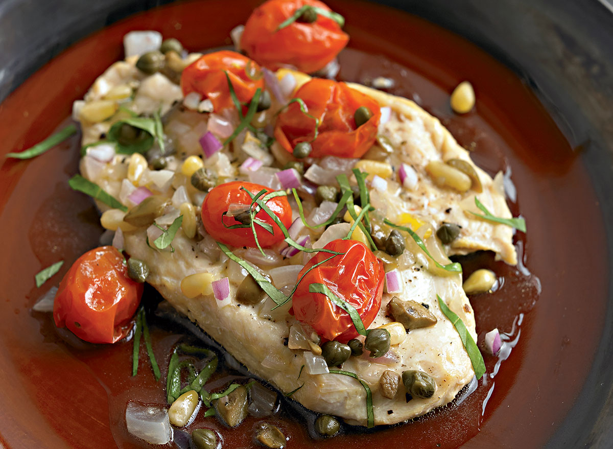 Mediterranean-Inspired Baked Chicken With Tomatoes and Capers Recipe