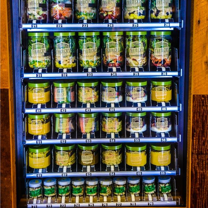 A Vending Machine Stocked With Healthy Snacks