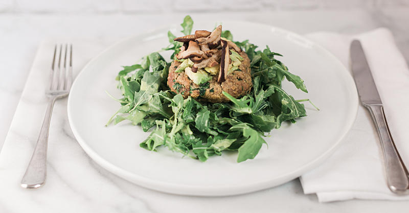 Add More Protein to Your Lunch with This Turkey Burger Salad