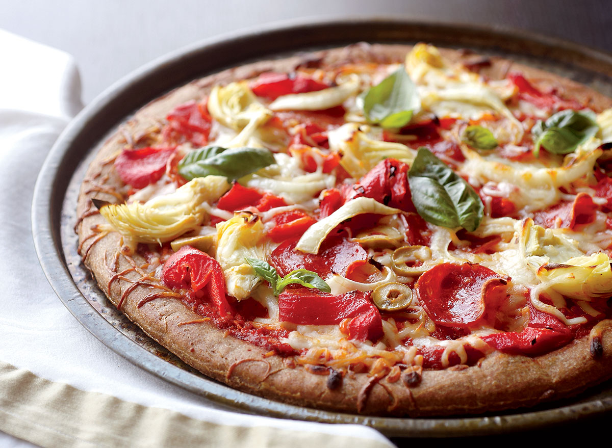 Loaded Pizza With Turkey Pepperoni Recipe