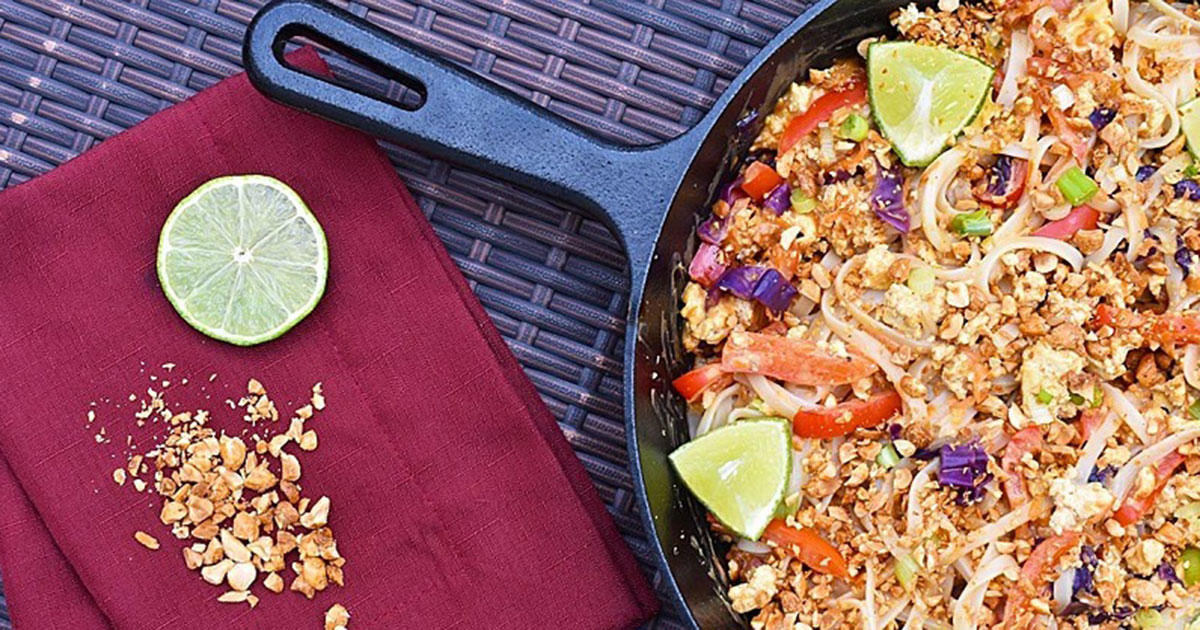 This Vegan Pad Thai Recipe Is Our Latest Meatless Dinner Obsession