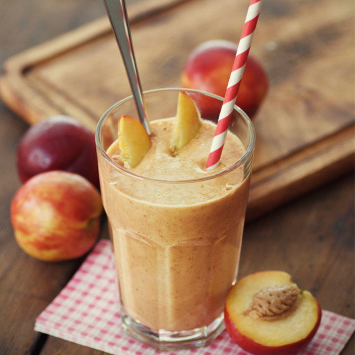 A Refreshing Peach Smoothie with a Surprise Ingredient