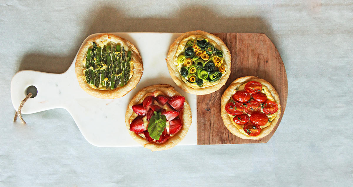 Goat Cheese Breakfast Tartlets Perfect for Hosting Brunch