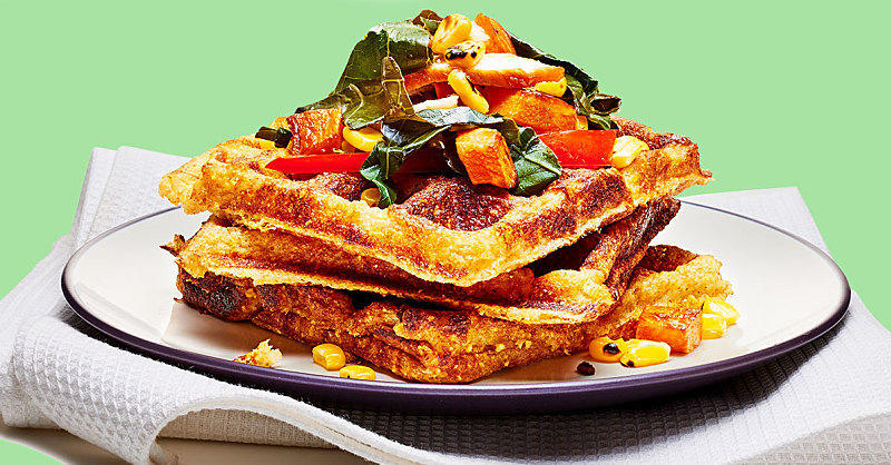 This Savory Cornbread Waffle Recipe Will Make You Forget About Maple Syrup Forever