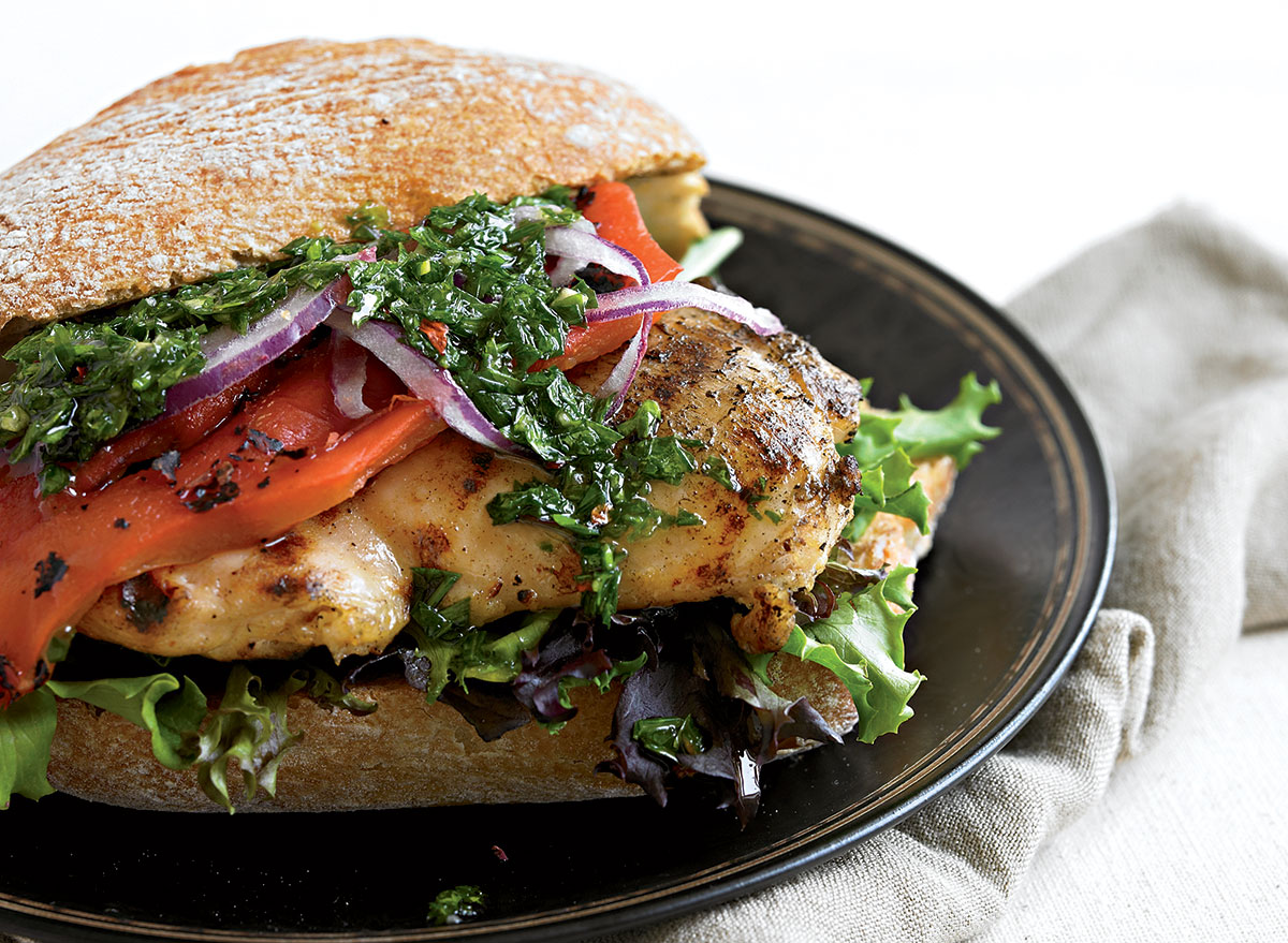 Grilled Chicken Sandwich With Chimichurri Sauce Recipe