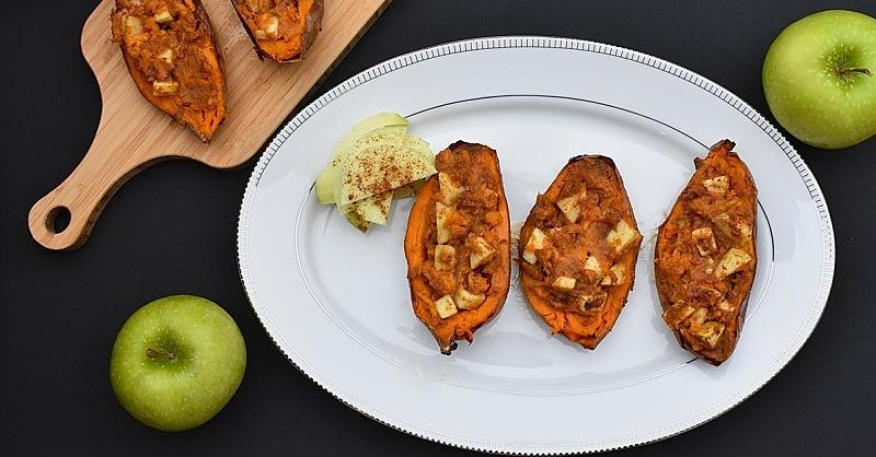 Cozy Up to These Cinnamon Apple-Stuffed Sweet Potatoes