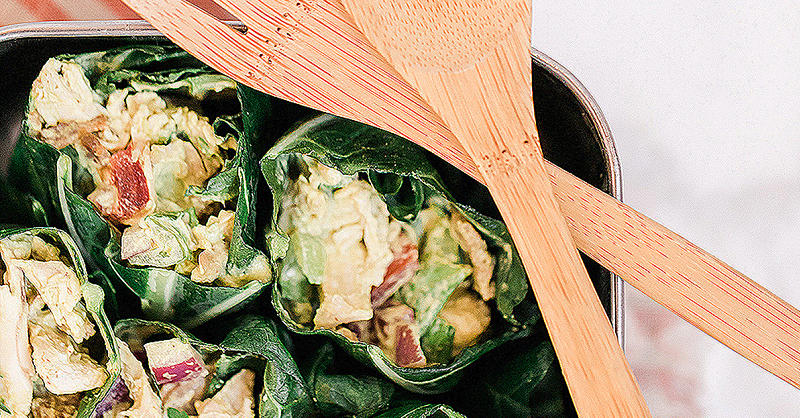 Try This BLT Chicken Salad Collard Wrap for a Low-Carb Meal Prep Lunch