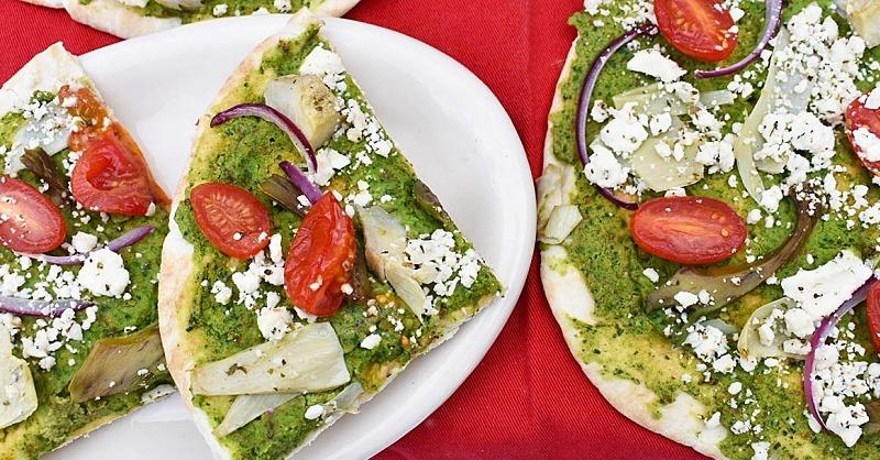 Healthy Mediterranean Flatbreads to Satisfy Your Pizza Cravings
