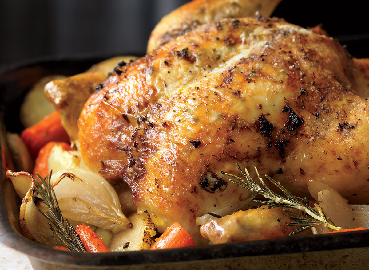 Classic Herb Roast Chicken With Root Vegetables Recipe