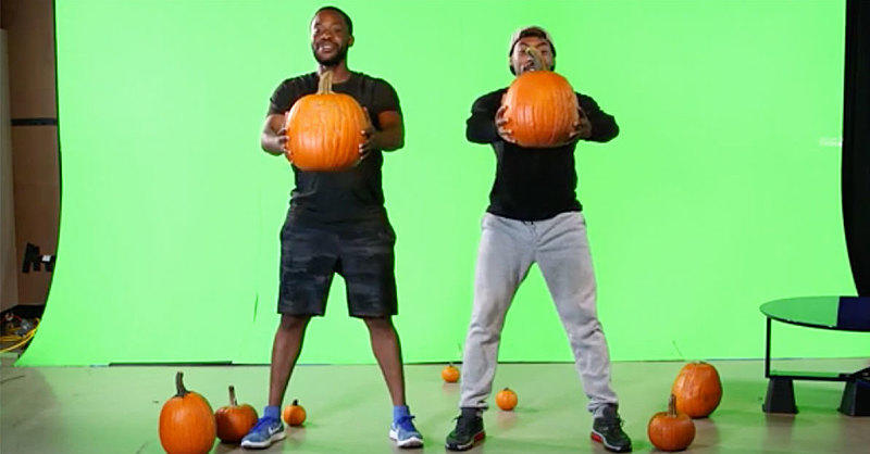 Dudes Attempt a Tricky Halloween Pumpkin Workout and It Will Haunt Your Dreams (with LOLs)