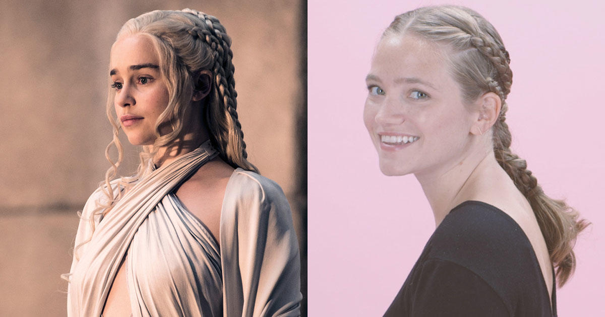 This Daenerys-Inspired Braided Ponytail Is Hairspo at Its Finest