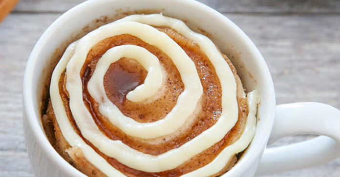 How to Make a Cinnamon Roll In a Mug In Just a Few Minutes