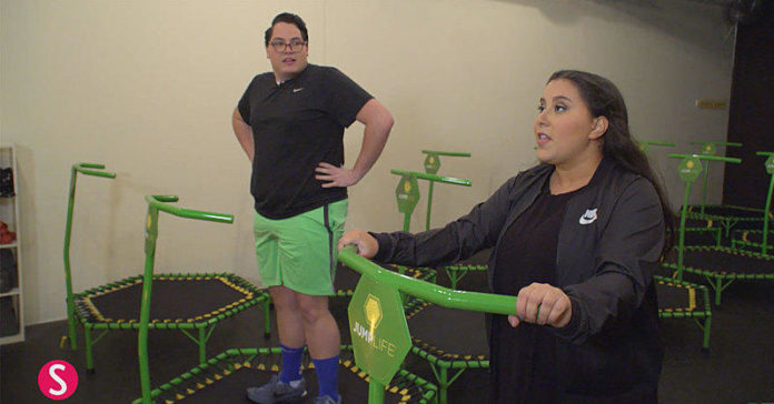 "You Need to See How ""Girl with No Job"" and ""Boy with No Job"" Handle a Trampoline Workout Class"