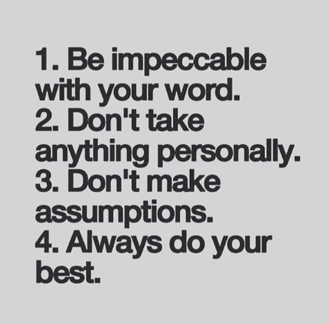 This book, The Four Agreements, changed my life. Imagine living this way beautif...