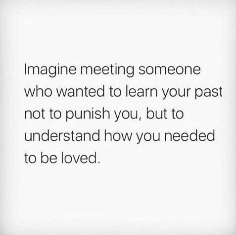 The only way to truly understand another person's heartache and pain is to imagi...