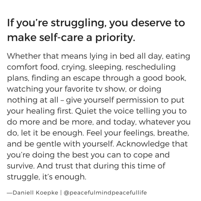 Self Care must be your #1 priority. If not, what do you have to give? Never lis...