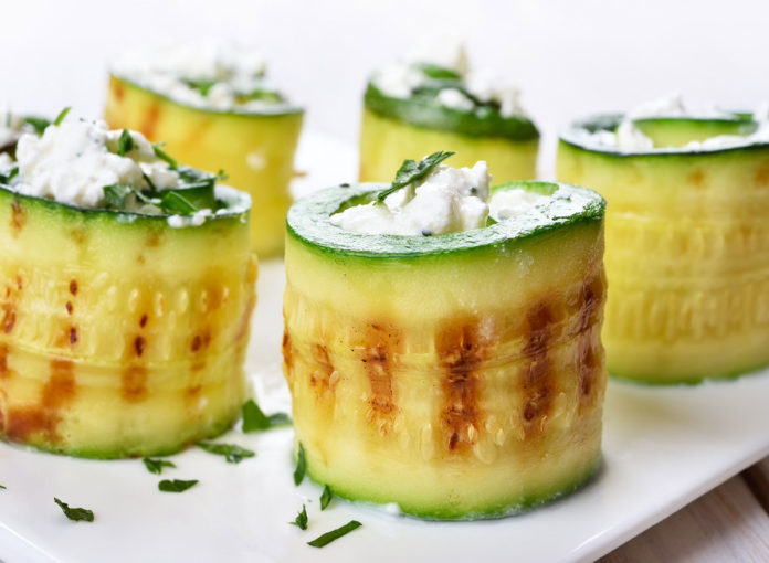 grilled wrapped zucchini rolss