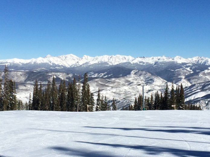 Awesome day of skiing in Colorado!  The Gore Range, pure white snow, and stillne...