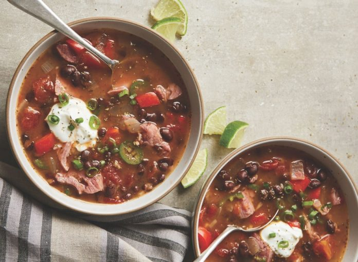 Slow Cooker Cuban Tomato and Black Bean Soup Recipe