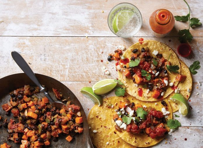 Healthy Black Bean and Sweet Potato Taco Recipe