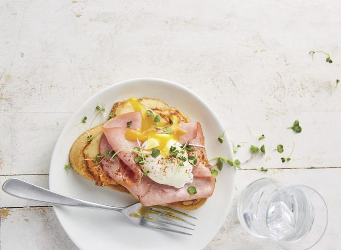 Open-Face Hot Ham and Cheese Sandwich With Chipotle Mayo Recipe