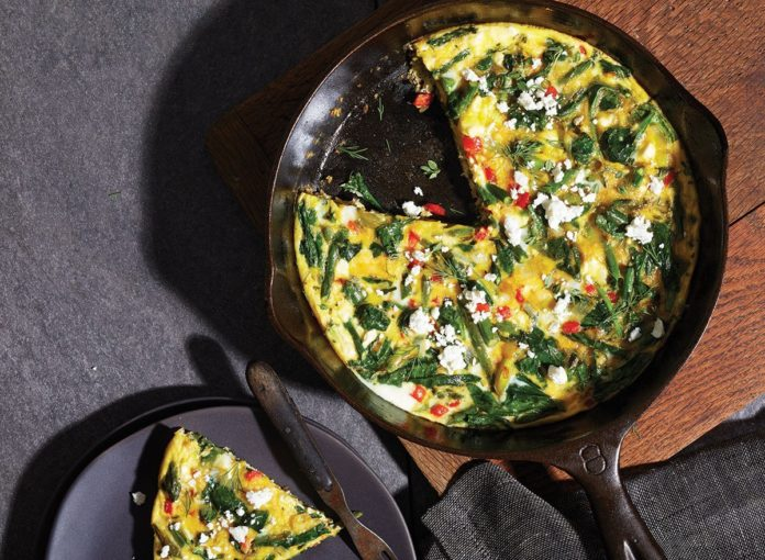 Healthy Spring Vegetable Frittata Recipe