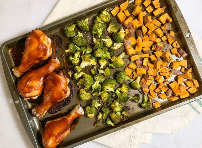 5-Ingredient BBQ Chicken Sheet Pan Dinner Recipe