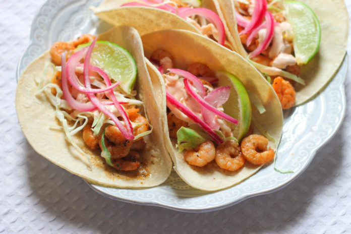 Shrimp Taco With Pickled Onions Recipe