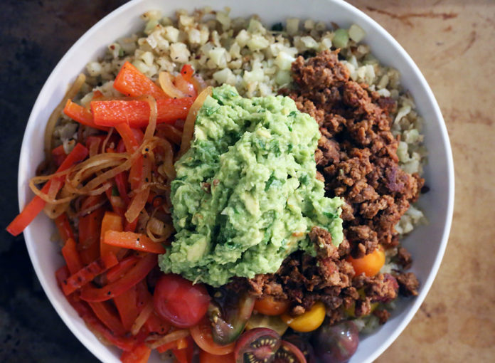 Simple Whole30 Beef Burrito Bowls