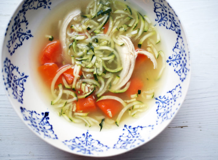 Whole30 Chicken Zoodle Soup