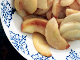 Whole30 Warm Sautéed Apples with Caramel Drizzle