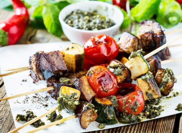 Argentinian-Style Churrasco Skewers With Chimichurri Sauce