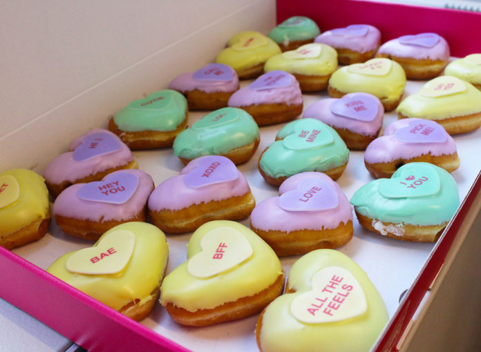 Krispy Kreme Brings Back Conversation Heart Donuts Just in Time for Valentine's Day
