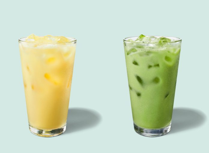 Starbucks Has Two New Iced Drinks for Spring Featuring Matcha and Turmeric