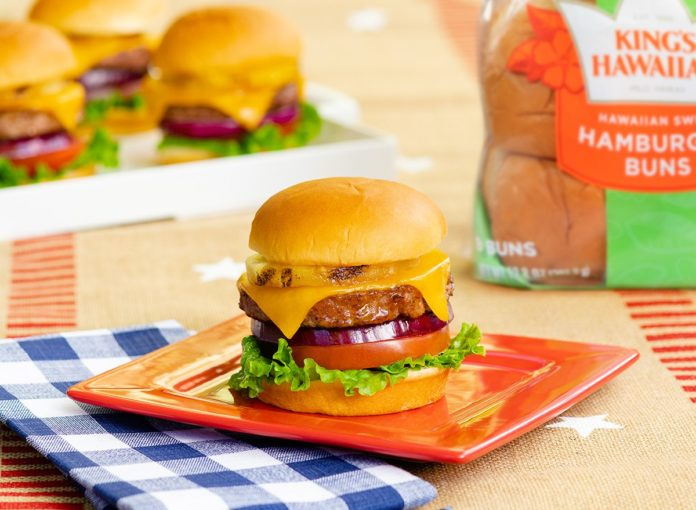 Maui Burgers with Grilled Pineapple