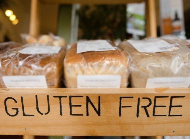 Display of gluten-free bread