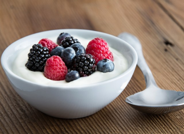 Yogurt fruit berries