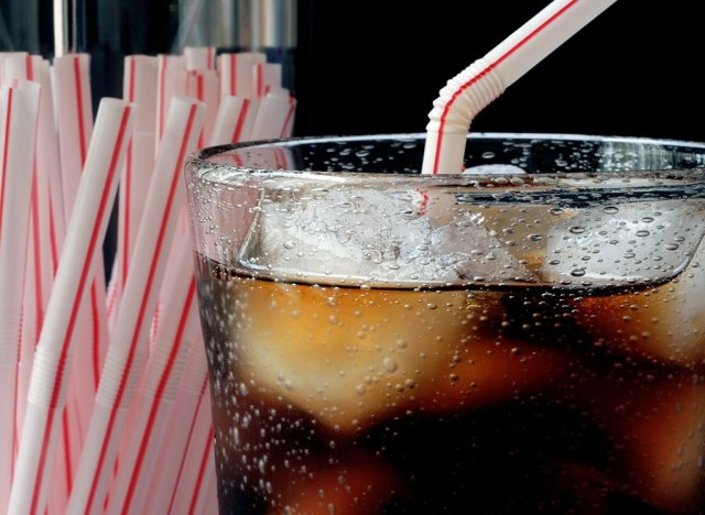 Soda with straws