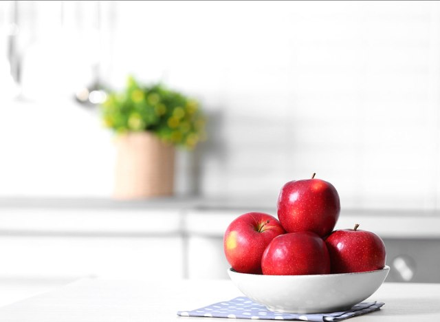apples on counter