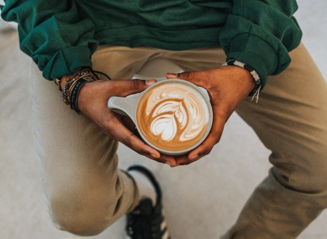 Man with latte