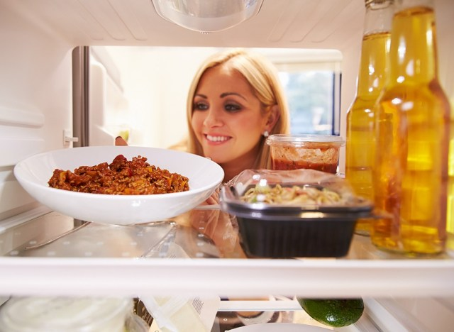 Putting leftovers away